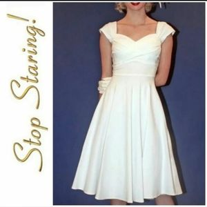 Stop Staring white swing dress